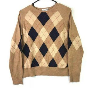 🎈 Pendleton Merino Wool Argyle Sweater Large